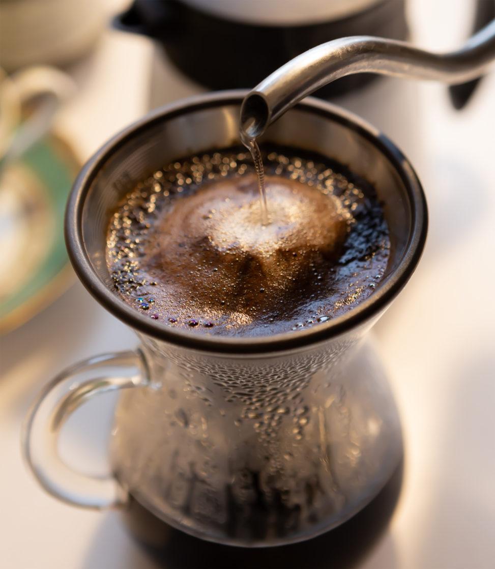ドリップコーヒー(珈琲)の写真素材