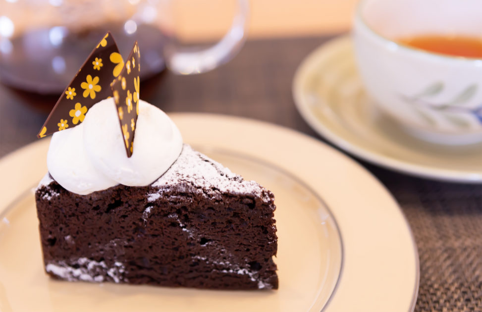 チョコレートケーキの写真素材