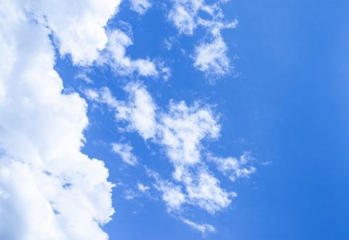 晴天の空と雲03の写真素材