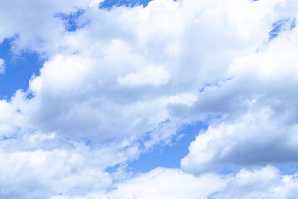 空と雲の写真素材