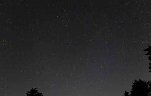満点の星空の写真素材