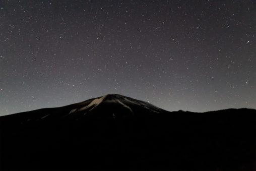星空と浅間山03の写真素材