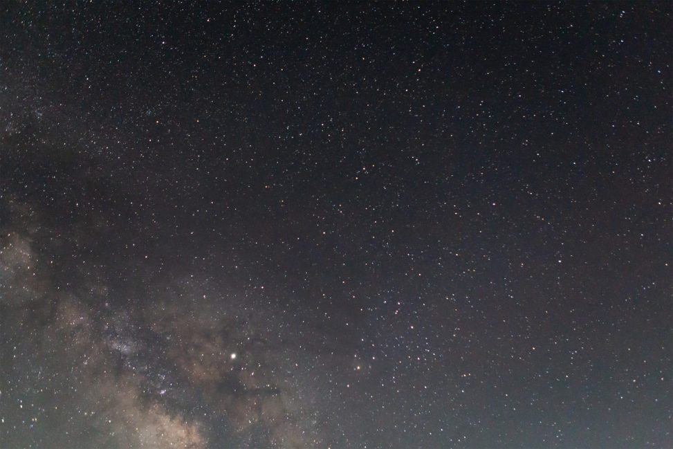 満点の星空と天の川03の写真素材