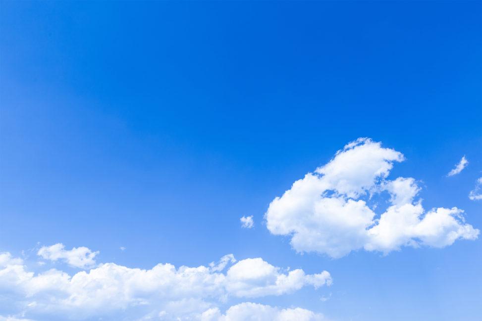 青空と雲の写真素材