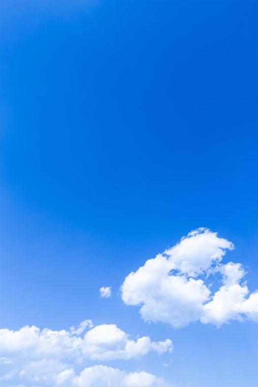 青空と雲02の写真素材