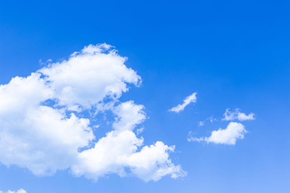 青空と雲03の写真素材