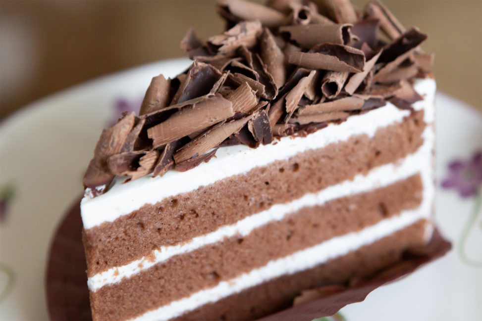 チョコレートケーキ03の写真素材
