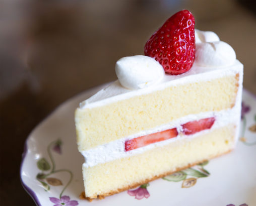 苺のショートケーキの写真素材