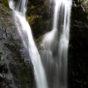 山奥の滝の写真素材