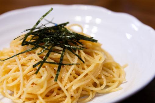 たらこのパスタ(スパゲッティ)の写真素材