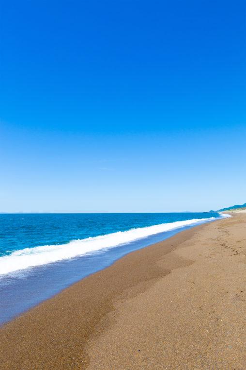 海(日本海)と砂浜02の写真素材