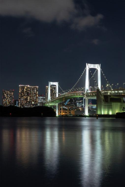 レインボーブリッジと夜景の写真素材