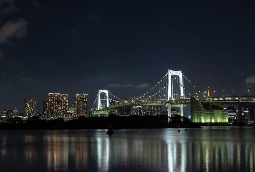レインボーブリッジと夜景02の写真素材