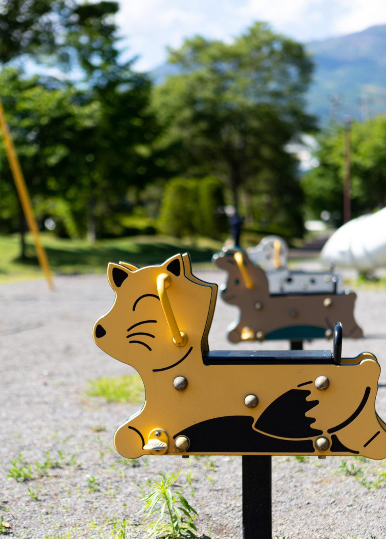 公園にある動物の遊具02の写真素材