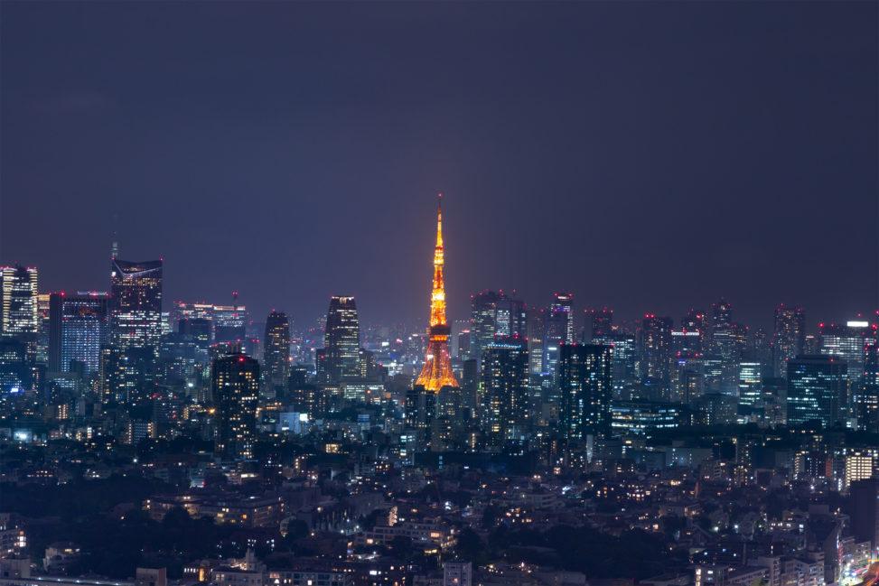 東京タワーと夜景の写真素材