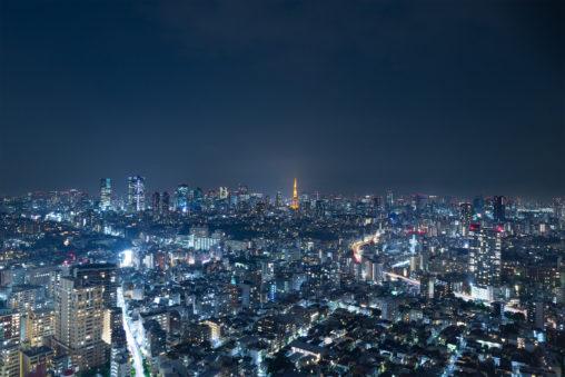 東京タワーと夜景02の写真素材