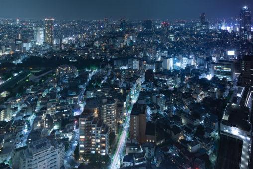 東京の夜景のフリー写真素材