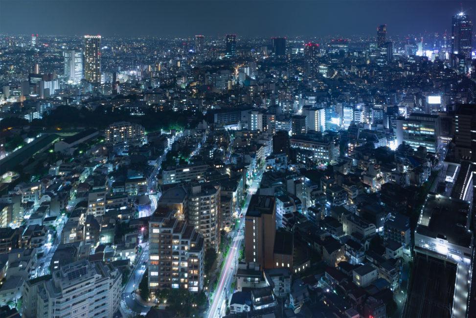 東京の夜景の写真素材