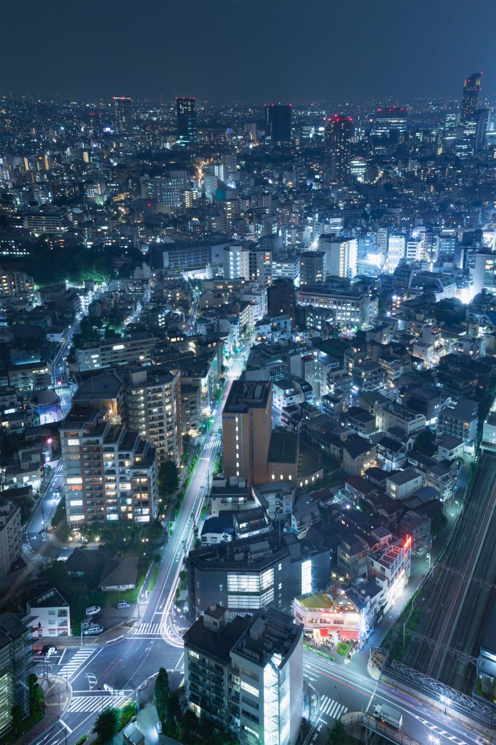 東京の夜景02のフリー写真素材