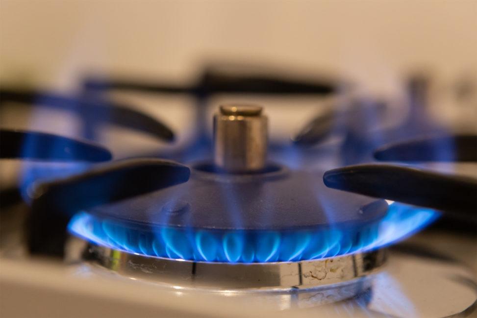 ガスコンロの火03の写真素材