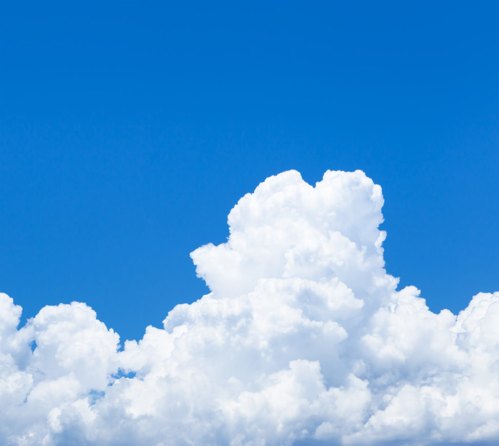 真夏の入道雲03の写真素材