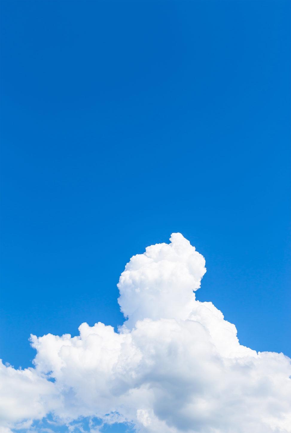 真夏の入道雲05の写真素材