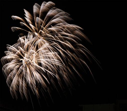 打ち上げ花火の写真素材
