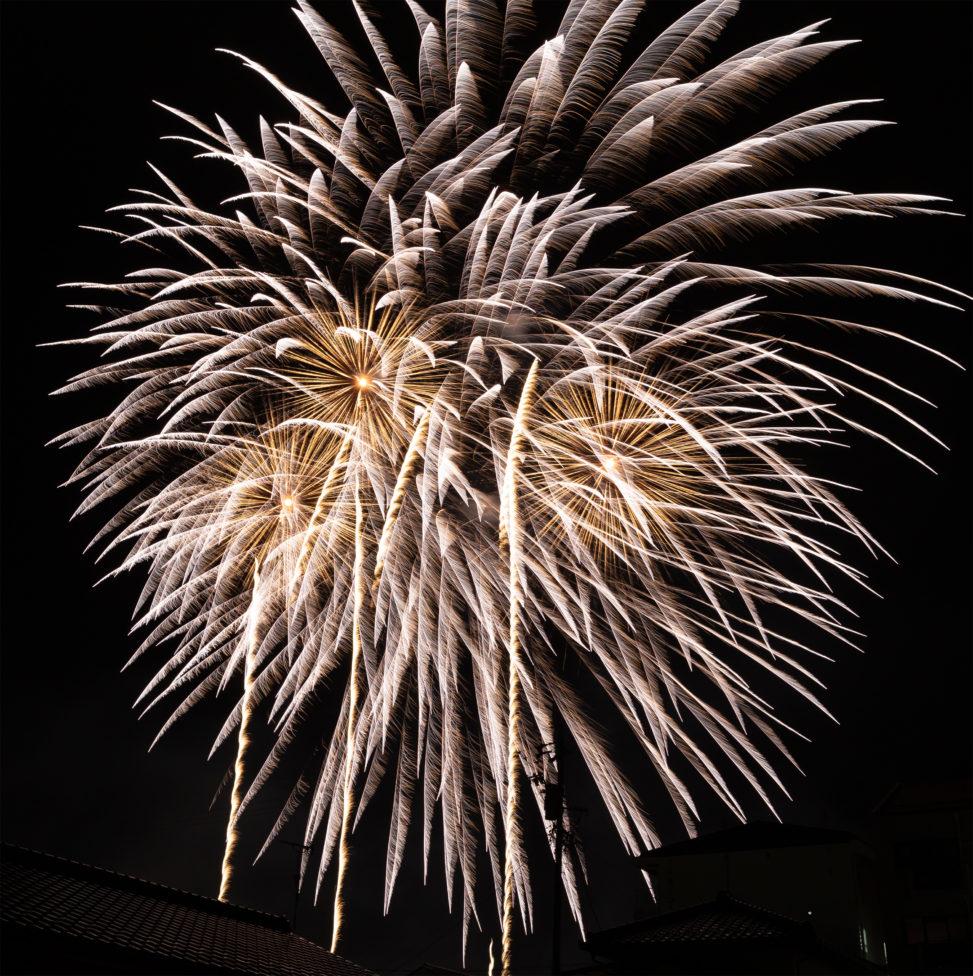打ち上げ花火02の写真素材