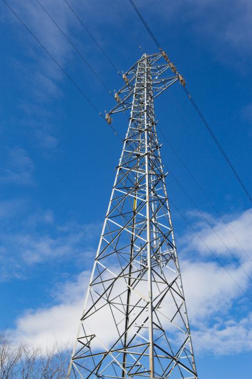 青空と鉄塔の写真素材