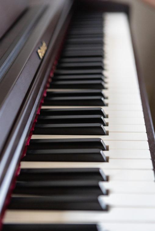 電子ピアノの鍵盤02のフリー写真素材