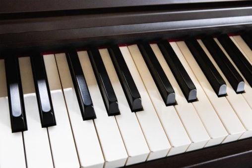 電子ピアノの鍵盤03のフリー写真素材