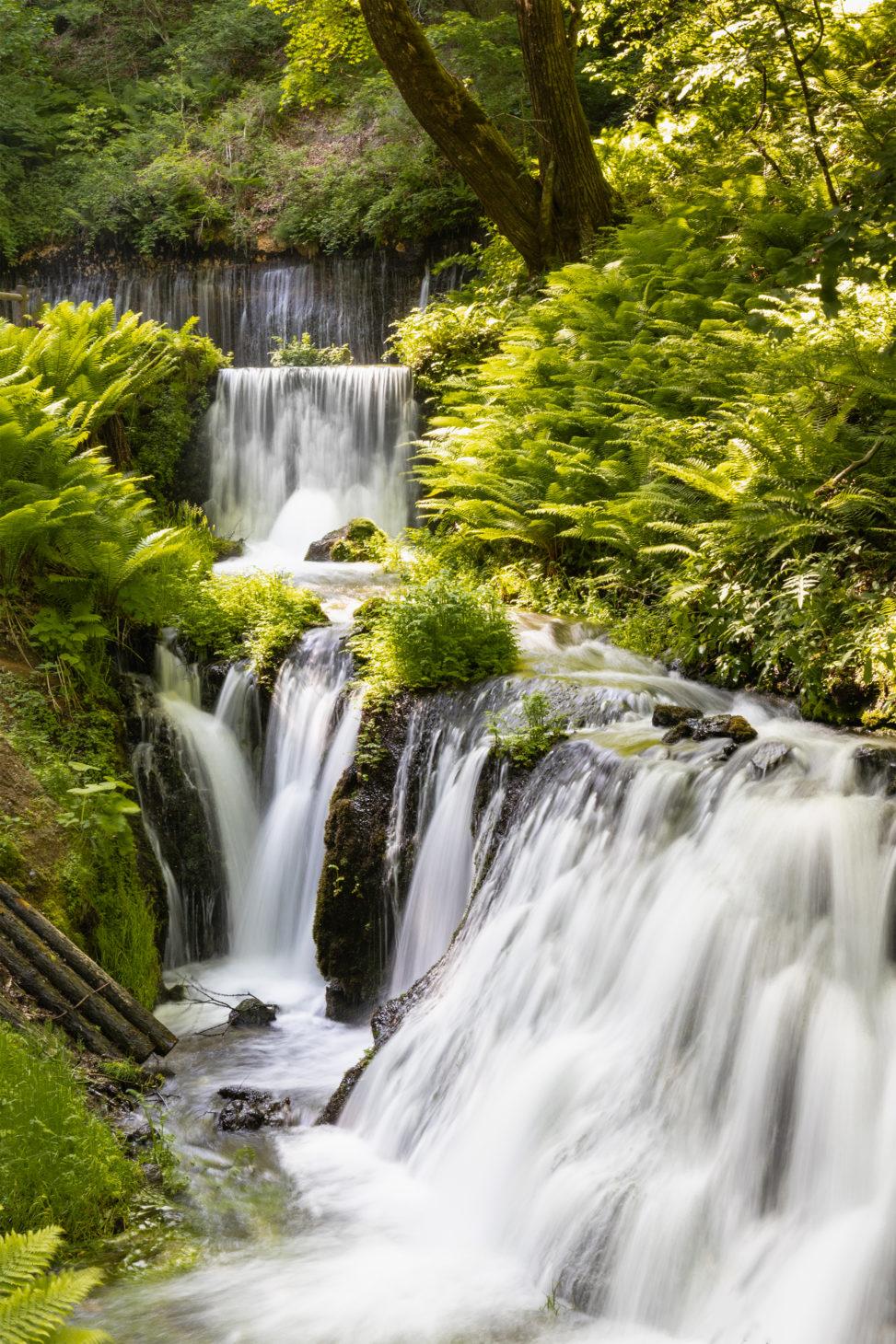 清流の滝のフリー写真素材