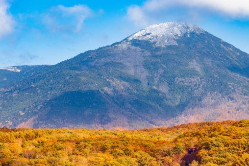 秋の蓼科山の写真