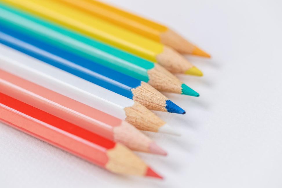 色鉛筆/白背景_2の写真