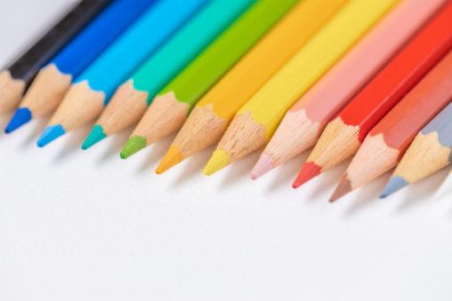色鉛筆/白背景_3の写真