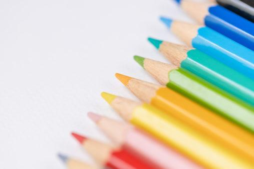 色鉛筆/白背景_4の写真