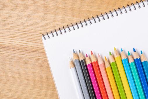 色鉛筆/スケッチブックの写真