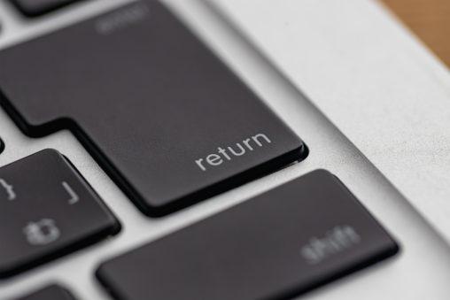 return/enter/キーボードの写真