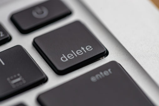 delete/キーボードの写真