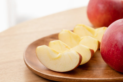 カットされたリンゴ/林檎の写真