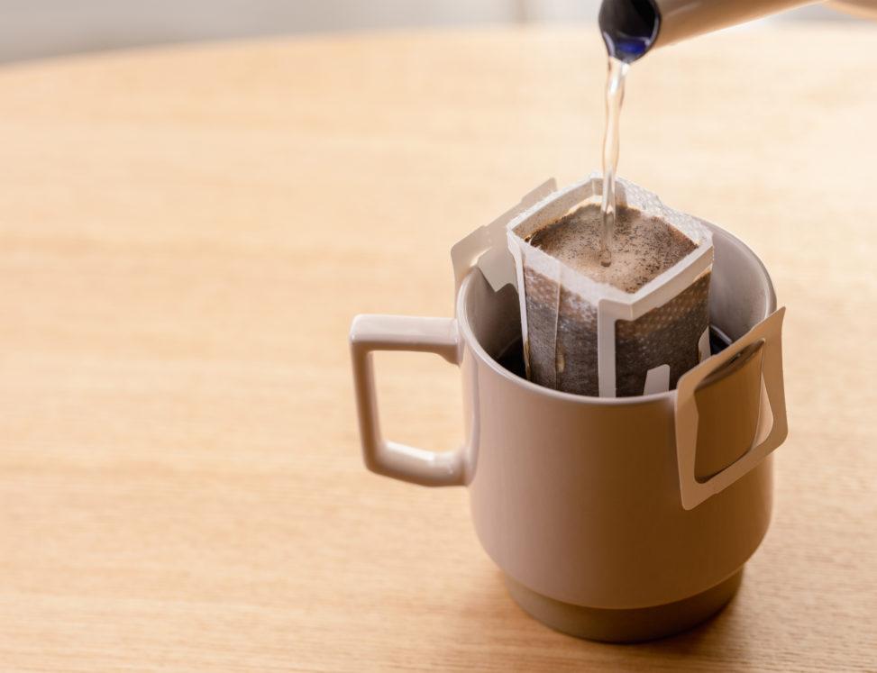 ドリップコーヒーバッグ/珈琲/お湯の写真
