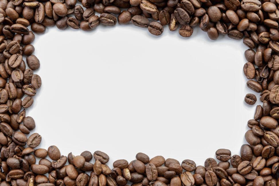 コーヒー豆/珈琲豆のフレーム・飾り枠の写真