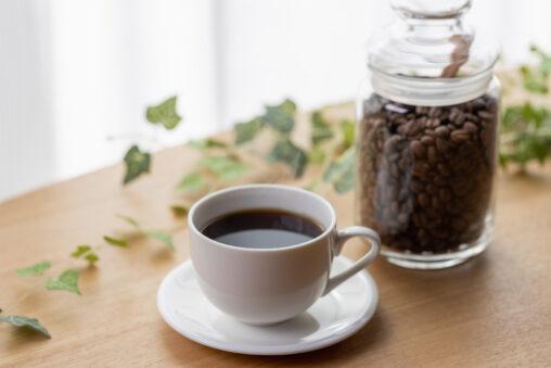 コーヒー/珈琲とコーヒー豆の写真