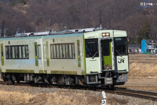 ローカル電車/小海線/冬の写真